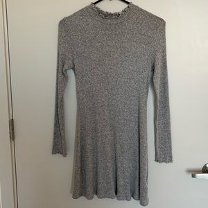 Kimchi blue mock neck ribbed sweater dress